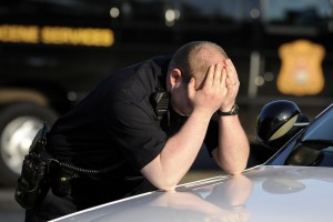 stressed cop